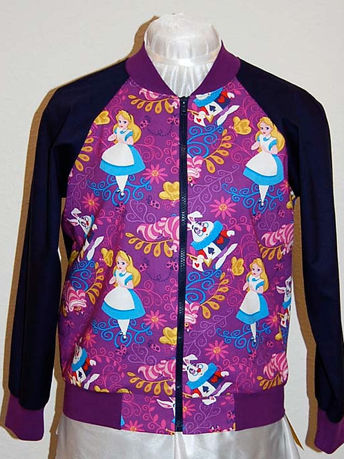 Alice/Rabbit/Cat ladies jacket (made from Licensed cotton print fabric)