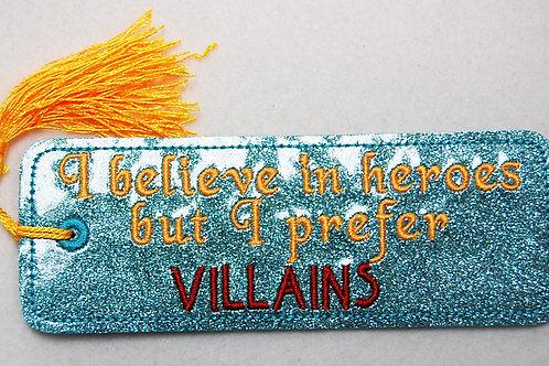 Heros/Villians embroidered bookmark
