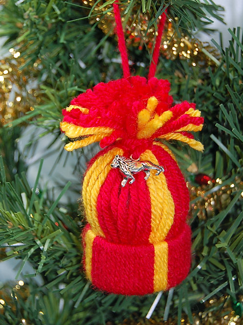 Wizard House - Lion red/gold hat ornament/Party favor