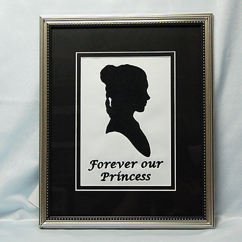 Forever Our Princess (Leia) - embroidered in frame