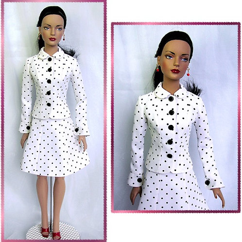 """TW-0601 - Suit Pattern (Jacket & Skirt) 16"""" Tyler Wentworth Doll"""
