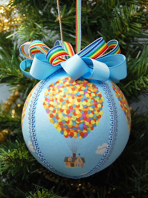 """Ornament made with licensed UP fabric/styrofoam ball - 4"""""""