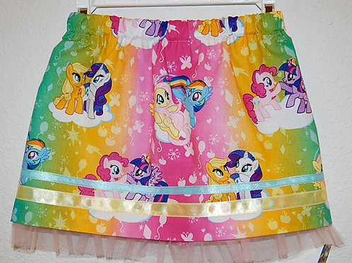 Pony (ombre) skirt (made from Licensed cotton print fabric)