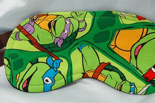 Cartoon Turtles sleep mask (made w/Licensed cotton print fabric)