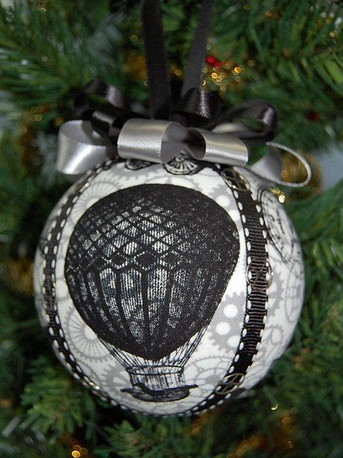 "Steampunk balloon ornament - 4"""