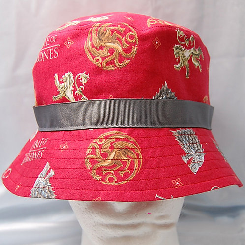 Throne Game bucket hat - made from Licensed cotton print fabric