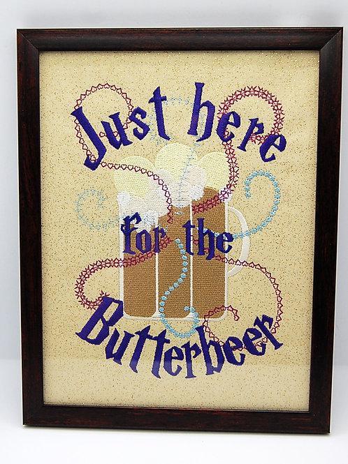 "Favorite Wizard Drink - 7 x 9"" framed embroidered art"