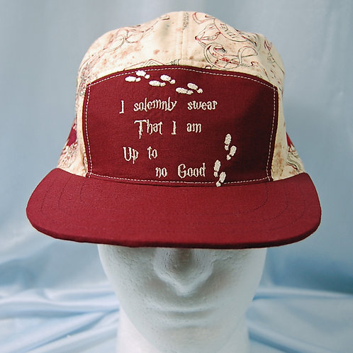 Wizard map cap (made from Licensed cotton print fabric)
