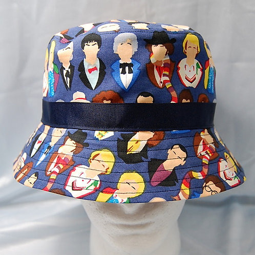 Bucket Hat made with licensed Dr. Who-Doctors cotton print fabric