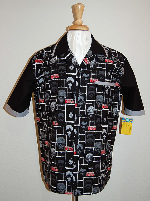 Shirt made with licensed Walking Zombies/Faces cotton print fabric