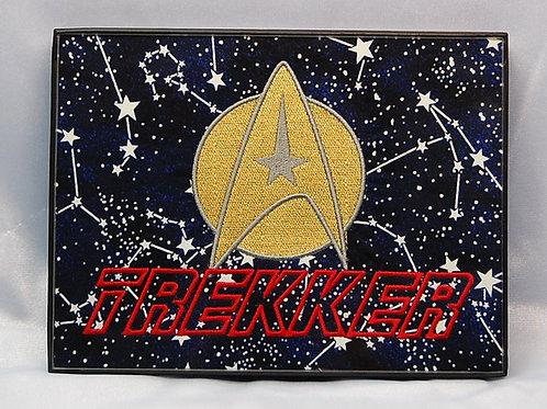 "Star Explorer Symbol - 6 x 8"" framed embroidered art"