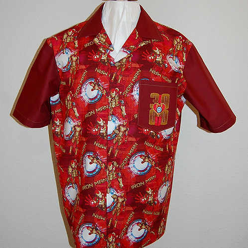 Iron Guy shirt (made from Licensed cotton print fabric)