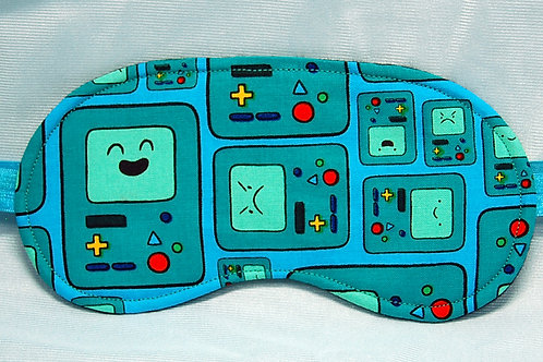 Cartoon Robot sleep mask - made w/Licensed cotton print fabric