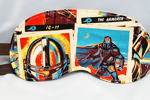 Sleep Mask made with licensed Star Wars Mandalorian cotton fabric