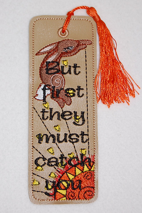 Rabbit/Sun embroidered bookmark