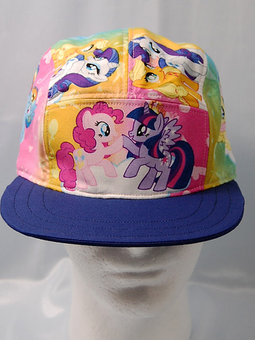 Cap made with licensed My Little Pony cotton print fabric