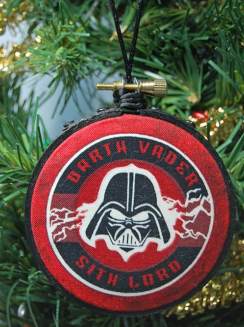 "Star Battles Evil Dad hoop ornament - 3"""