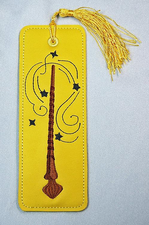 Wizard Wand (yellow/dark grey) bookmark