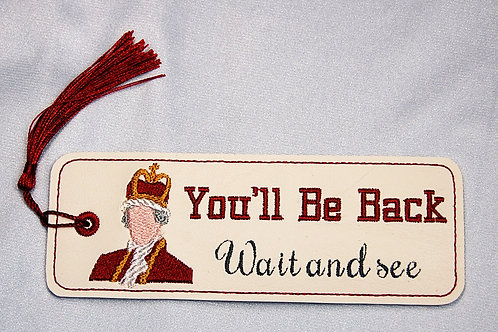 You'll Be Back (Wait and See) bookmark