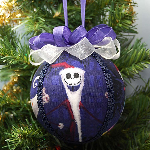 """Ornament made with licensed Nightmare Before Christmas fabric - 4"""""""