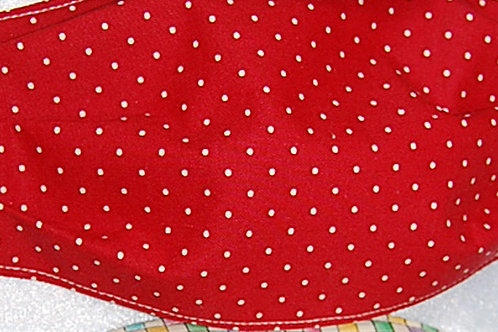 Red/tan dots child face covering