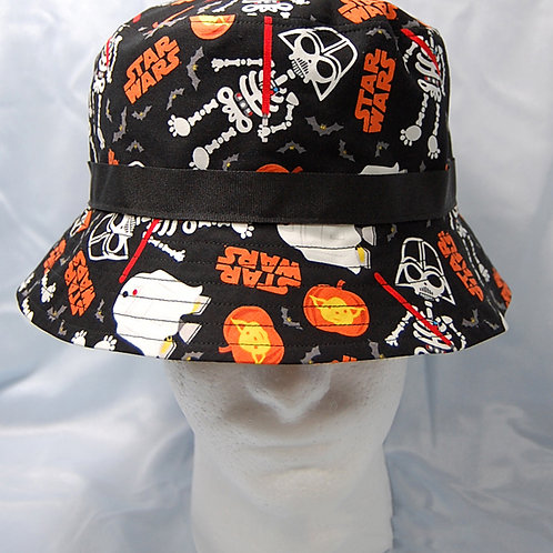 Bucket Hat made with licensed Star Wars-Halloween cotton print fabric
