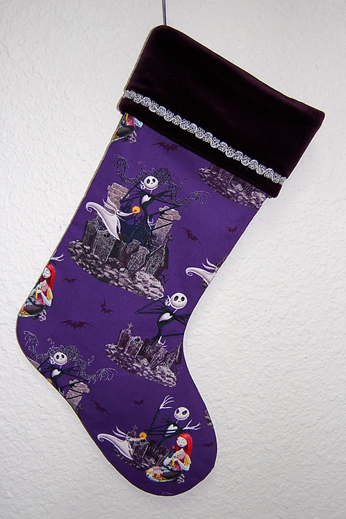 Nightmare Before Christmas stocking-made w/Licensed cotton print fabric