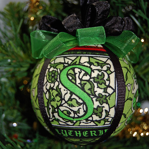 """Wizard House Ornament - Snake/green - 3"""""""