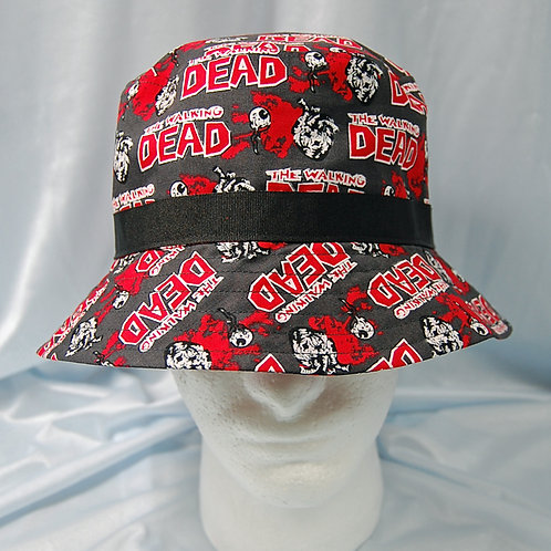 Zombies walking bucket hat - made from Licensed cotton print fabric