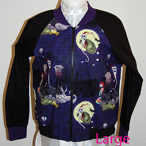 Skull Head/Patch Girl ladies jacket (made from Licensed cotton print fabric)