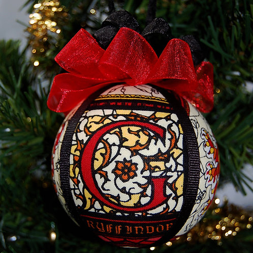 """Wizard House Ornament - Lion/red - 3"""""""