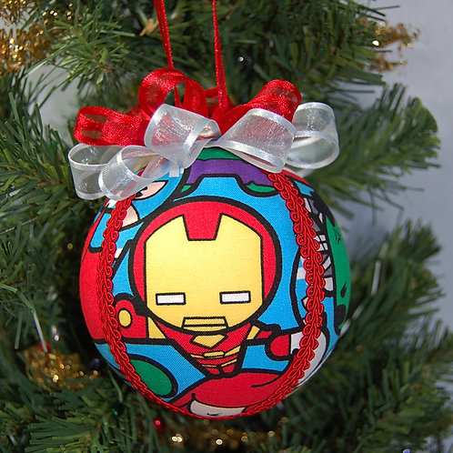 """Kawaii Superheros ornament - 4"""" (made from Licensed cotton print fabric)"""