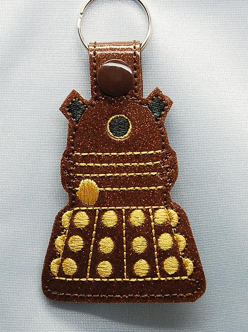 Dr. Space Evil Robot snap tab key fob