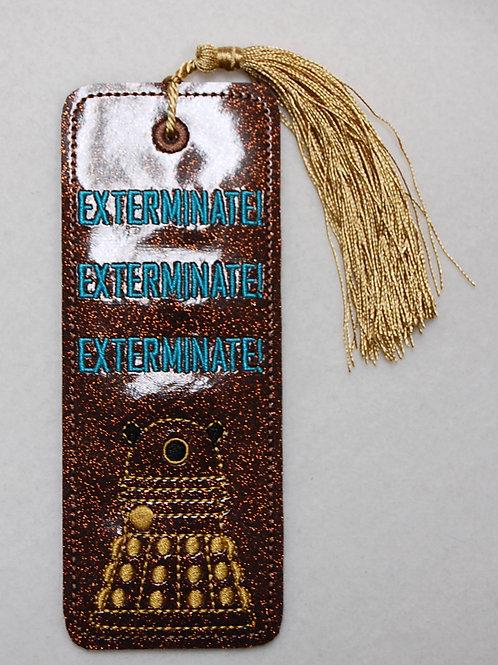 Exterminate! Exterminate! Exterminate! embroidered bookmark