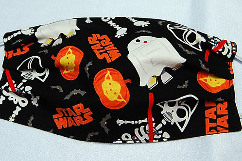 Star Battles child face covering-3 layer/adjustable ear loops