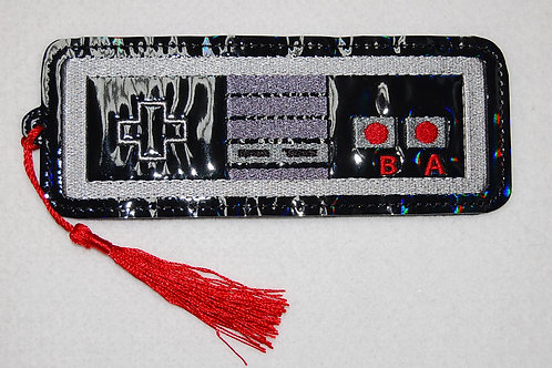 Video Game Controller embroidered bookmark