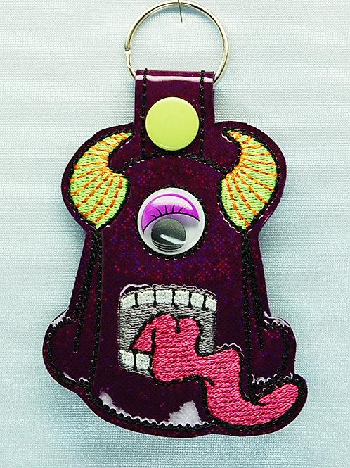 Monster snap tab key fob - purple/purple