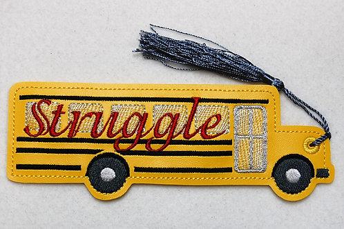 Struggle Bus embroidered bookmark