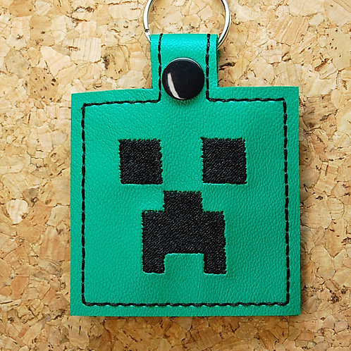 Mining Video Game character snap tab key fob