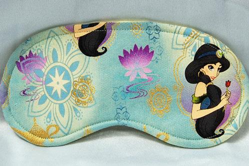 Sleep Mask made with licensed Princess Jasmine cotton fabric