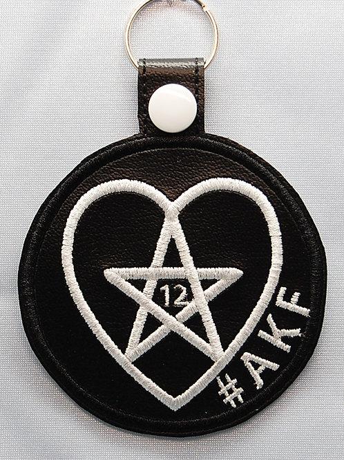 Demon Hunter symbol snap tab key fob