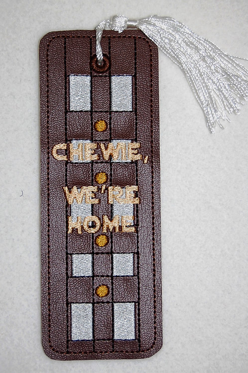 Chewie, We're Home embroidered bookmark