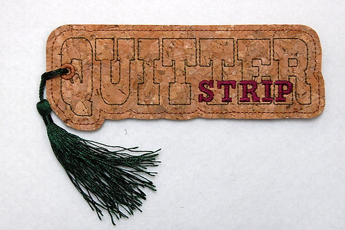 Quitter Strip embroidered bookmark