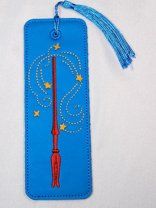 Wizard Wand (blue/gold) bookmark
