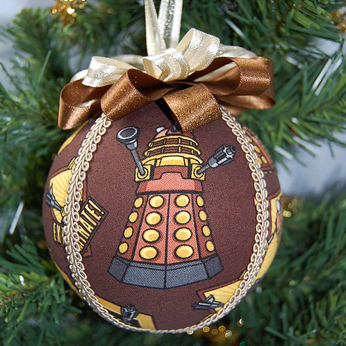 """Dr. Space Villain ornament - 4"""" (made from Licensed cotton print fabric)"""