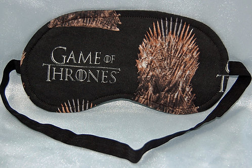 Throne Game sleep mask - made w/Licensed cotton print fabric