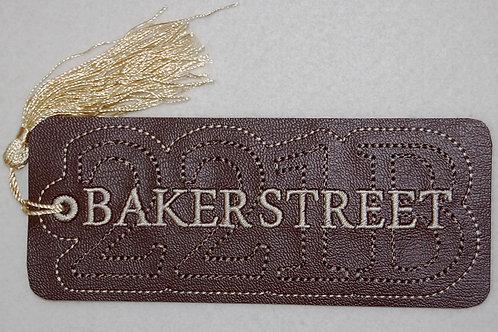 Baker Street embroidered bookmark