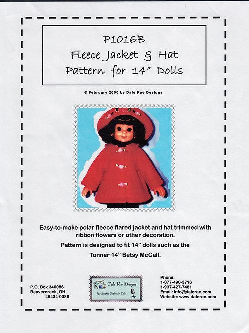 "P1016B-Jacket & Hat Pattern for 14"" dolls"