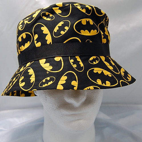 Bat guy bucket hat - made from Licensed cotton print fabric
