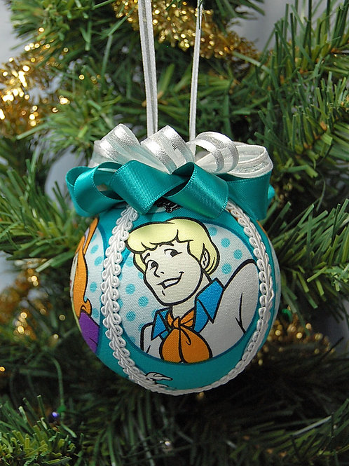 """Ornament made with licensed Scooby Doo characters fabric/styrofoam ball - 3"""""""